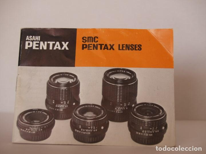 CATALOGO ASAHI PENTAX / SMC LENTES PENTAX (Cámaras Fotográficas - Catálogos, Manuales y Publicidad)
