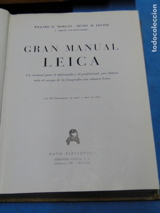 Cámara de fotos: GRAN MANUAL LEICA. MORGAN, WILLARD D. Y LESTER, HENRY M. - Foto 2 - 113344027
