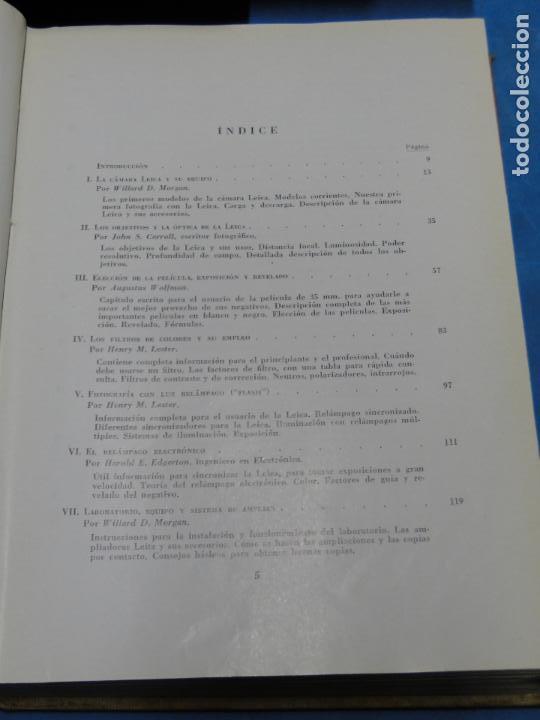 Cámara de fotos: GRAN MANUAL LEICA. MORGAN, WILLARD D. Y LESTER, HENRY M. - Foto 3 - 113344027