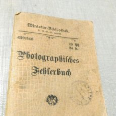 Cámara de fotos: MANUAL LIBRO DE ERROR FOTOGRÁFICO PHOTOGRAPHISCHES FEHLERBUCH FOTO. Lote 113706450