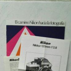 Cámara de fotos: INSTRUCCIONES NIKON NIKKOR 135MM F/2.8. Lote 114533960
