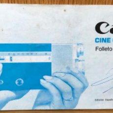 Cámara de fotos: CATÁLOGO MANUAL DE INSTRUCCIONES DE CANON - CINE CANONET 8. Lote 150346798