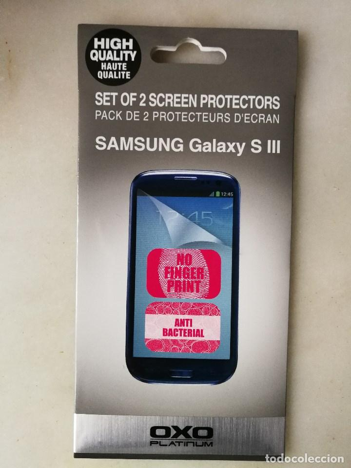 2 Protectores de pantalla + metal cover de Samsung Galaxy S3 III segunda mano