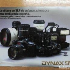 Cámara de fotos: PUBLICIDAD DE MINOLTA 9XI.DOS CARAS TIPO ALFOMFRILLA DE ORDENADOR.42X30CM. Lote 117309803