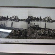 Cámara de fotos: ANTIGUA CRISTAL ESTEREOSCOPICA ESTEREOSCOPIA PANORAMA DE THOUNE SUISSE SUIZA. Lote 118179511