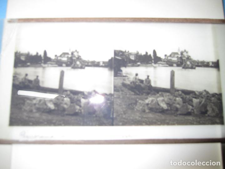 Cámara de fotos: ANTIGUA CRISTAL ESTEREOSCOPICA ESTEREOSCOPIA PANORAMA DE THOUNE SUISSE SUIZA - Foto 3 - 118179511