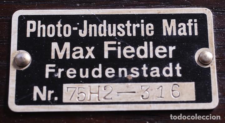 Cámara de fotos: Copiadora para documentos y fotos, fabricada por Photo Jndustrie Mafi - Max Fiedler, el año 1936 - Foto 3 - 118361931
