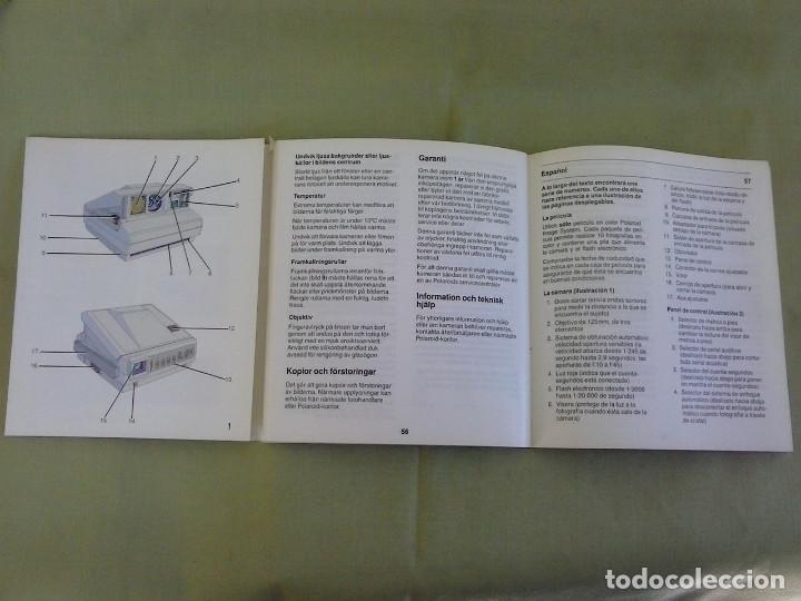 Cámara de fotos: Manual Instrucciones Camara Polaroid Image System. Año 1986 - Foto 3 - 118375907