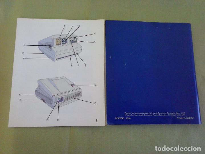 Cámara de fotos: Manual Instrucciones Camara Polaroid Image System. Año 1986 - Foto 5 - 118375907