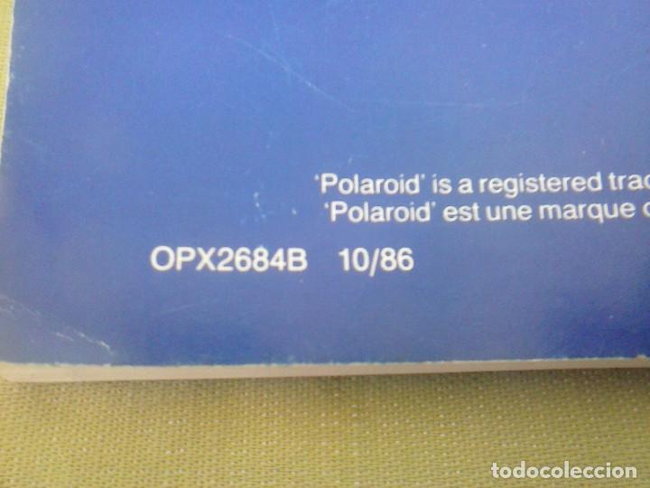 Cámara de fotos: Manual Instrucciones Camara Polaroid Image System. Año 1986 - Foto 7 - 118375907