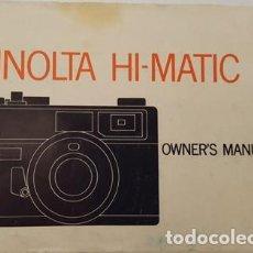 Cámara de fotos: ANTIGUO MANUAL DE INSTRUCCIONES DE CAMARA DE FOTOS HI-MATIC - E. Lote 120613103