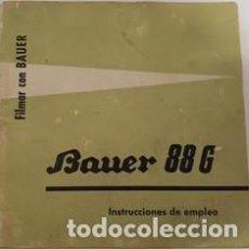 Cámara de fotos: ANTIGUO MANUAL DE INSTRUCCIONES CAMARA DE FILMAR BAUER 88 G . Lote 120613631