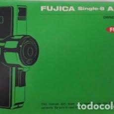 Cámara de fotos: ANTIGUO MANUAL DE INSTRUCCIONES DE FUJICA - SINGLE 8 - AX 100 -. Lote 120613911