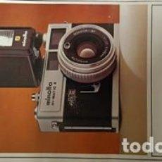 Cámara de fotos: ANTIGUO MANUAL DE INSTRUCCIONES DE CAMARA DE FOTOS MINOLTA HI-MATIC E. Lote 120630203