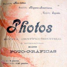 Cámara de fotos: REVISTA PHOTOS, MADRID 1902-03 Nª1 A 13 / BOLETIN CASA FOTOS, ZARAGOZA. Lote 120865539