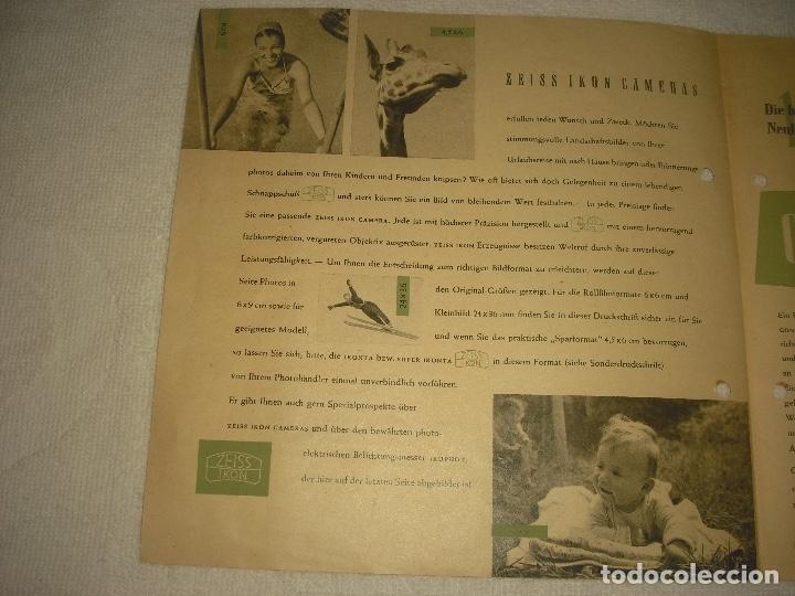 Cámara de fotos: ZEISS IKON CAMERA, PUBLICIDAD ANTIGUA EN ALEMAN - Foto 2 - 121155791