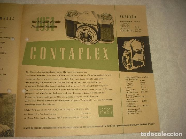 Cámara de fotos: ZEISS IKON CAMERA, PUBLICIDAD ANTIGUA EN ALEMAN - Foto 3 - 121155791