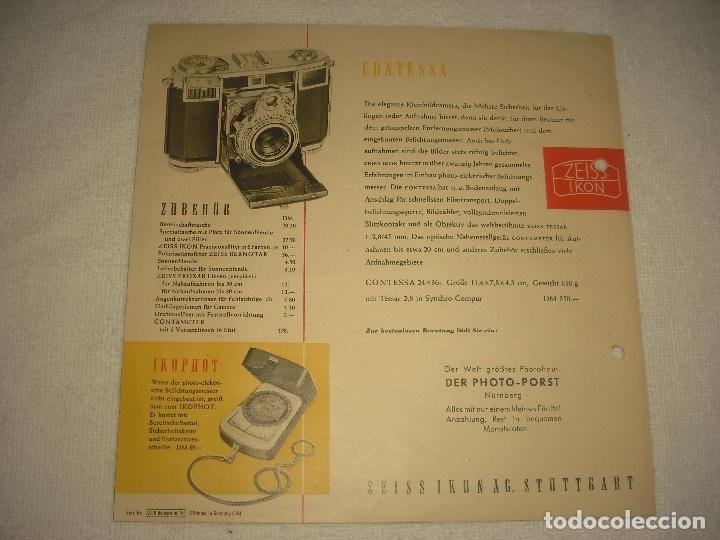 Cámara de fotos: ZEISS IKON CAMERA, PUBLICIDAD ANTIGUA EN ALEMAN - Foto 4 - 121155791