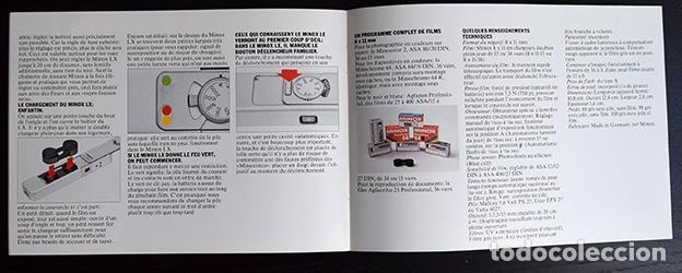 Cámara de fotos: Folleto Minox LX, cámara miniatura. Alemania 1979 - Foto 4 - 121290775