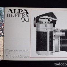 Cámara de fotos: ALPA REFLEX 9D. THE SWISS WATCHMAKERS' CAMERA - FOLLETO INFORMATIVO, 1972. Lote 121291575