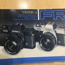 Cámara de fotos: MANUAL INSTRUCCIONES YASHICA FR CASTELLANO. Lote 121572599