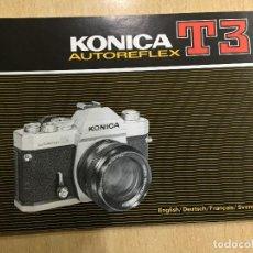 Cámara de fotos: MANUAL INSTRUCCIONES KONICA AUTOREFLEX T3 VARIOS IDIOMAS. Lote 121708307