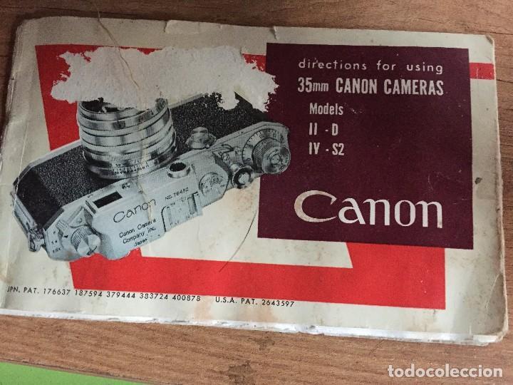 Cámara de fotos: MANUAL INSTRUCCIONES CANON IID - IV S2 - Foto 2 - 122472471
