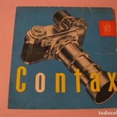 Cámara de fotos: CATALOGO DE ZEISS IKON. CONTAX. 1954.. Lote 123078647