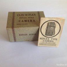 Cámara de fotos: CAJA Y MANUAL NUEVOS CÁMARA CLIX-O-FLEX. Lote 124505631