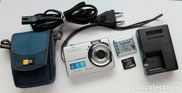 CAMARA DIGITAL OLYMPUS FE-190 CON FUNDA+TARGETA XD DE 16 MB+BATERIA+CARGADOR BATERIA, FUNCIONA BIEN (Cámaras Fotográficas - Otras)