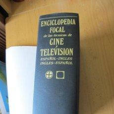 Cámara de fotos: ENCICLOPEDIA FOCAL DE LAS TÉCNICAS DE CINE Y TV. (ESPAÑOL-INGLÉS INGLÉS-ESPAÑOL).- EDIC. OMEGA.1976. Lote 125119827