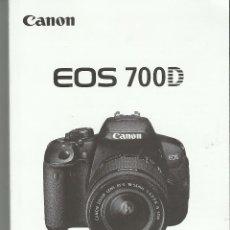Cámara de fotos: MANUAL CANON EOS 700 D. Lote 125970915