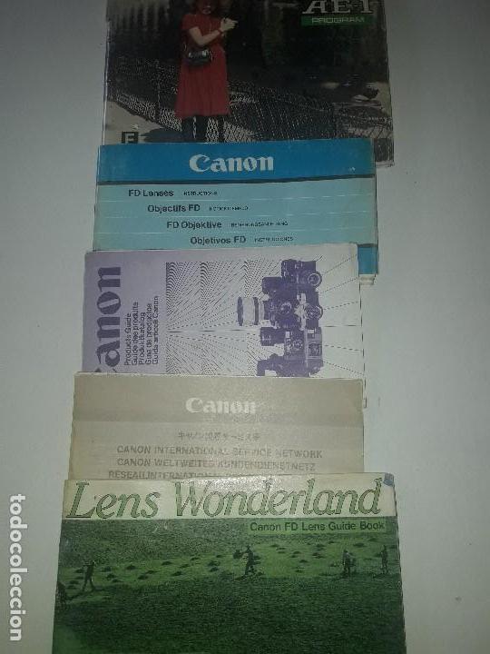 CATOLOGO MANUAL INSTRUCCIONES PUBLICIDAD CANON AE-1 PROGRAM Y OBJETIVO FD (Cámaras Fotográficas - Catálogos, Manuales y Publicidad)