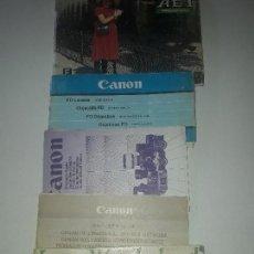Cámara de fotos: CATOLOGO MANUAL INSTRUCCIONES PUBLICIDAD CANON AE-1 PROGRAM Y OBJETIVO FD. Lote 125975203