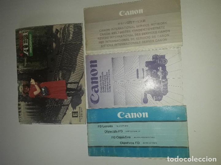 Cámara de fotos: Catologo manual instrucciones publicidad Canon AE-1 Program y objetivo FD - Foto 2 - 125975203