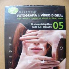 Cámara de fotos: TODO SOBRE FOTOGRAFIA & VIDEO DIGITAL CD 5 RETOQUE FOTOGRAFICO II EL ENCUADRE - EL MUNDO. Lote 126546847
