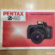 Cámara de fotos: MANUAL INSTRUCCIONES PENTAX Z- 20. Lote 126857451
