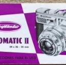 Cámara de fotos: MANUEL DE LA CÁMARA FOTOGRÁFICA VOIGTLÄNDER VITOMATIC II. Lote 126864859