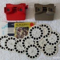 Cámara de fotos: VIEW MASTER: VISORES Y DISCOS - EN FUNCIONAMIENTO. Lote 127585255