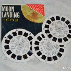 Cámara de fotos: CONJUNTO DE DIAPOSITIVAS VIEW MASTER - MOON LANDING 1969 - AÑOS 60 - 21 STEREO FOTO'S - ENVÍO 24H. Lote 128249223