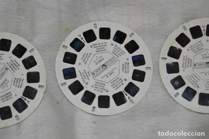 Cámara de fotos: CONJUNTO DE DIAPOSITIVAS VIEW MASTER - ZORRO - AÑOS 50 / 60 - 21 STEREO FOTOS - ENVÍO 24H - Foto 3 - 128249383