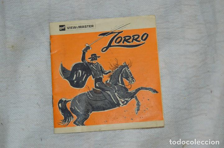 Cámara de fotos: CONJUNTO DE DIAPOSITIVAS VIEW MASTER - ZORRO - AÑOS 50 / 60 - 21 STEREO FOTOS - ENVÍO 24H - Foto 6 - 128249383