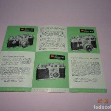 Cámara de fotos: ANTIGUO CATÁLOGO PUBLICITARIO DE CÁMARAS FOTOGRÁFICAS LEICA DE LEITZ ERNST LEITZ-WETZLAR - AÑO 1956. Lote 128357271