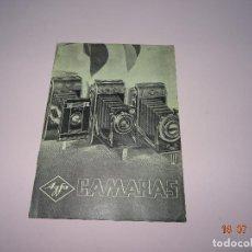 Cámara de fotos: ANTIGUO CATÁLOGO PUBLICITARIO DE CÁMARAS FOTOGRÁFICAS Y PRODUCTOS AGFA DEL AÑO 1934. Lote 128359391