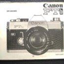Cámara de fotos: CANON FT B INSTRUCCIONES EN ESPAÑOL CAMARA FOTOFOTOGRAFIA. Lote 128832147