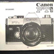 Cámara de fotos: ANON FT DINSTRUCCIONES EN ESPAÑOL CAMARA FOTOFOTOGRAFIA . Lote 128832147
