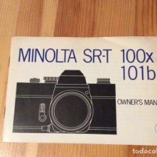 Cámara de fotos: MINOLTA MANUAL SR-T 100X 101B. Lote 129036520