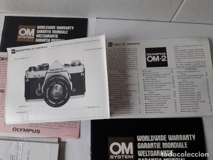 Cámara de fotos: INSTRUCCIONES CAMARA OLYMPUS OM-2, Y RESTO DOCUMENTACION. - Foto 4 - 129082895