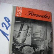 Cámara de fotos: ANTIGUO LIBRO FOTOGRAFIA - FORMULAS. Lote 195019986