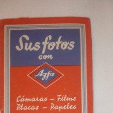 Cámara de fotos: ESTUCHE ANTIGUO DE REVELADO AGFA (FILMS-PLACAS PAPELES). Lote 129978231